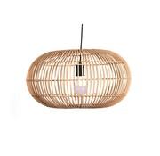 Searchlight Hanglamp Rattan 48x26cm - Zwart/Rotan