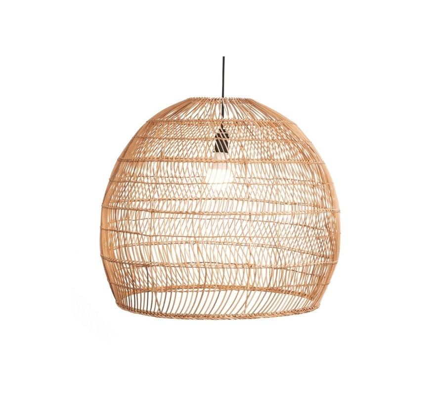 Hanglamp Rattan 60x50cm - Zwart/Rattan
