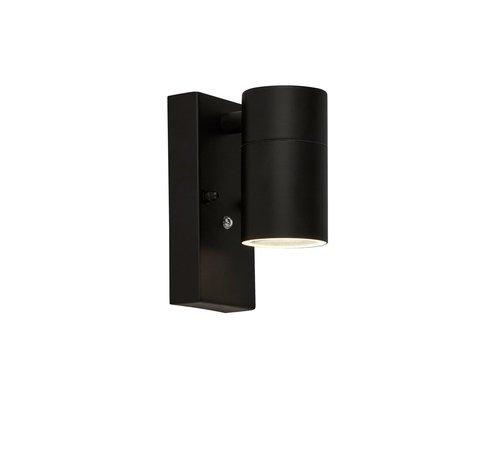 Searchlight Wandlamp Dustilda Sensor 1A - Zwart