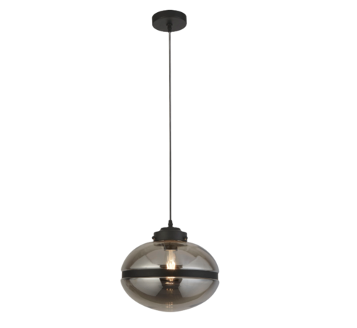 Searchlight Hanglamp Meringue - Zwart/Smoke