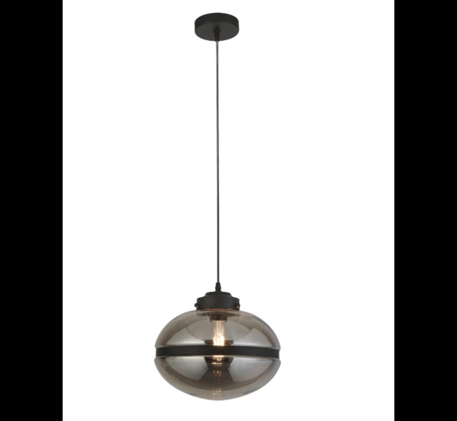 Hanglamp Meringue - Zwart/Smoke