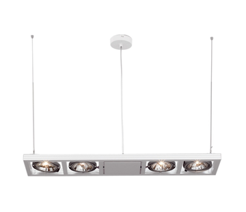 Artdelight Hanglamp Indus 4L - Wit