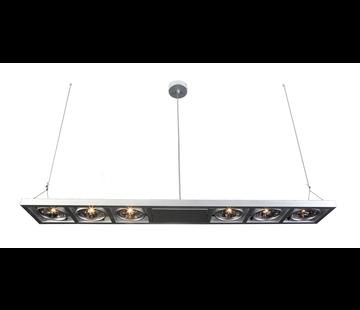 Artdelight Hanglamp Indus 6L - Aluminium