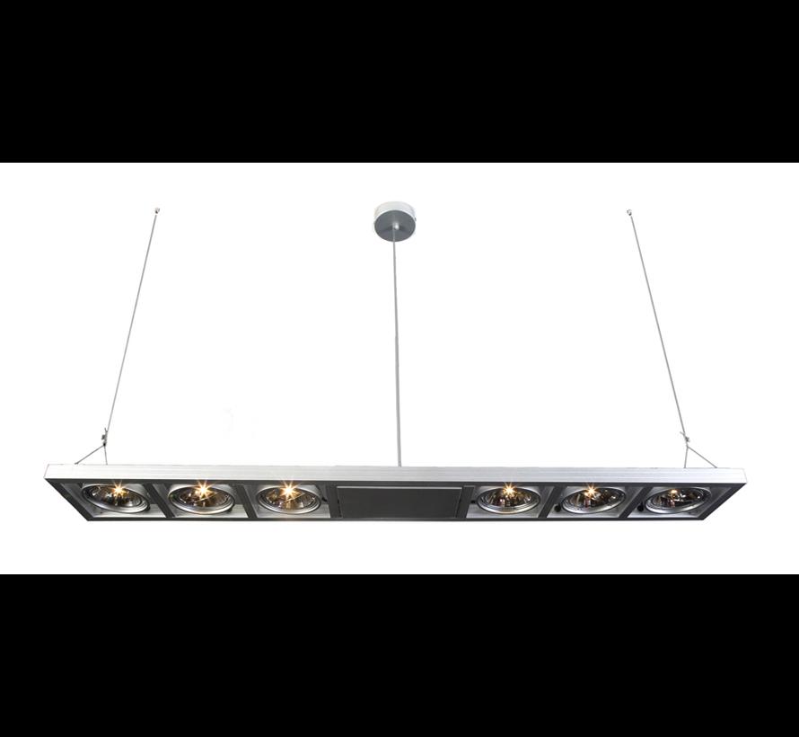 Hanglamp Indus 6L - Aluminium