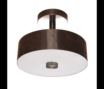 Artdelight Plafondlamp Plate Ø25cm - Mat Staal