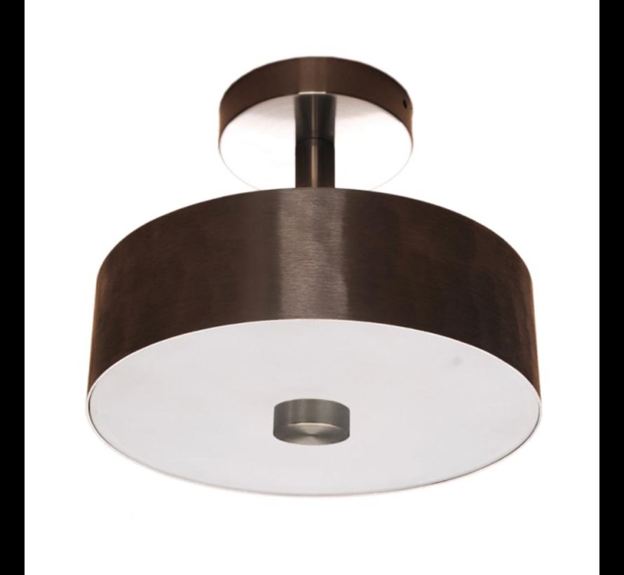 Plafondlamp Plate Ø25cm - Mat Staal