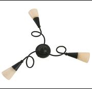 Artdelight Plafondlamp Luc - Roestbruin