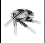 Artdelight Plafondlamp Tube 5L - Mat Staal