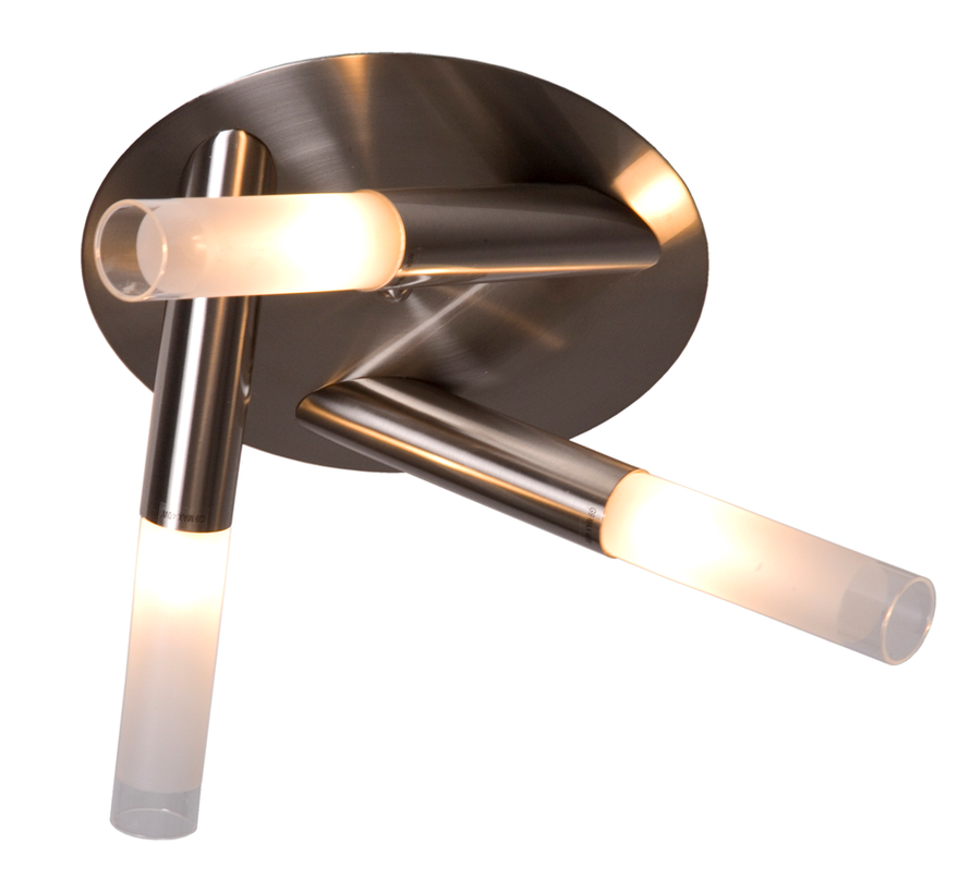 Plafondlamp Tube 8L - Mat Staal