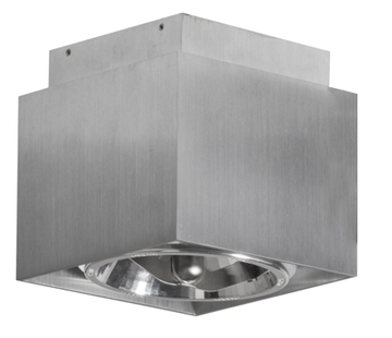 Artdelight Plafondlamp Square - Mat Staal