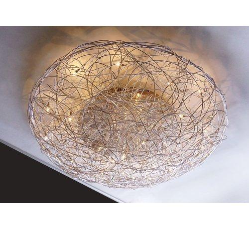 Artdelight Plafondlamp Draga - Mat Staal