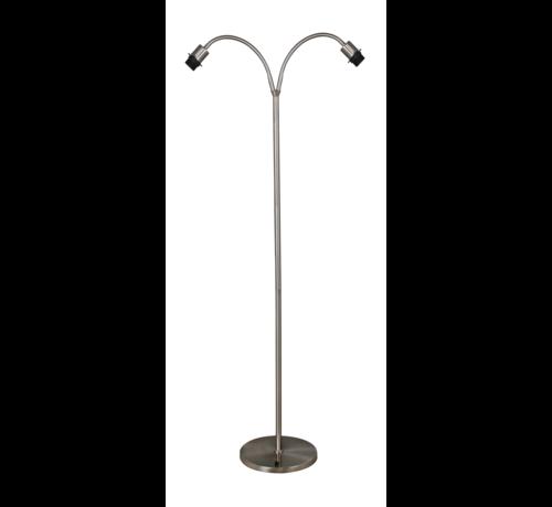 Artdelight Vloerlamp Flexi 2L - Mat Staal