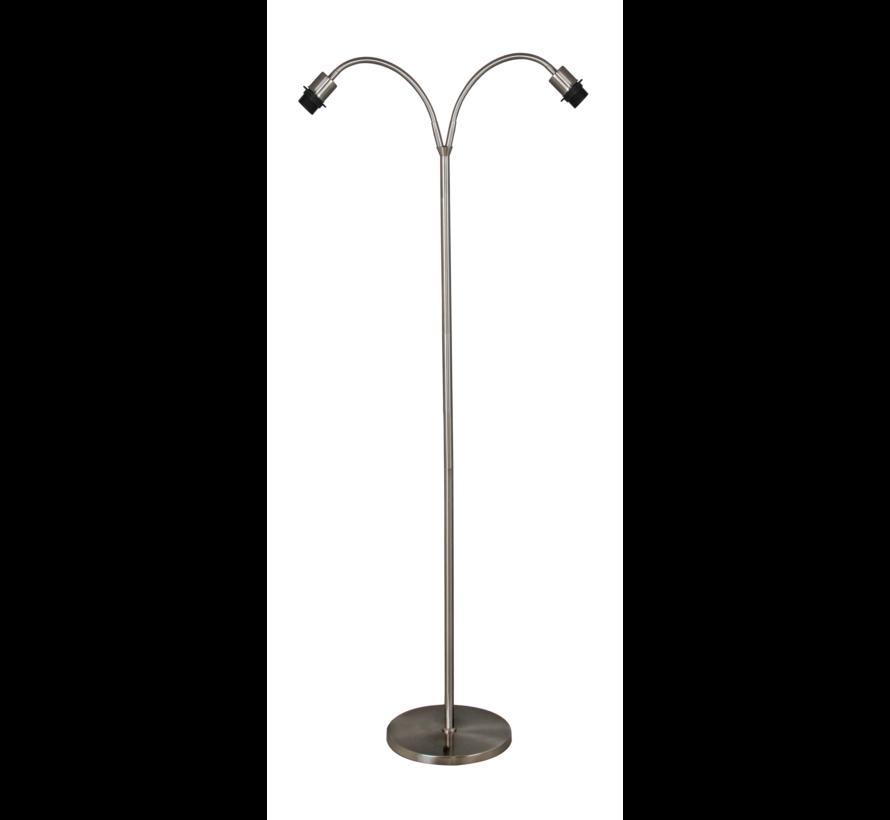 Vloerlamp Flexi 2L - Mat Staal