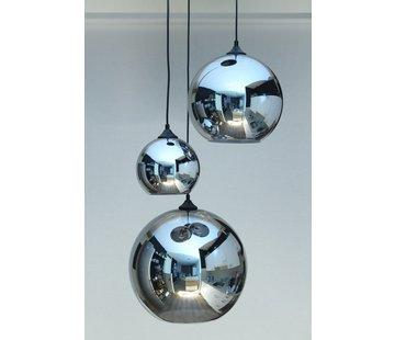 HELDR! Hanglamp Glass Ayr - Metallic Smoke