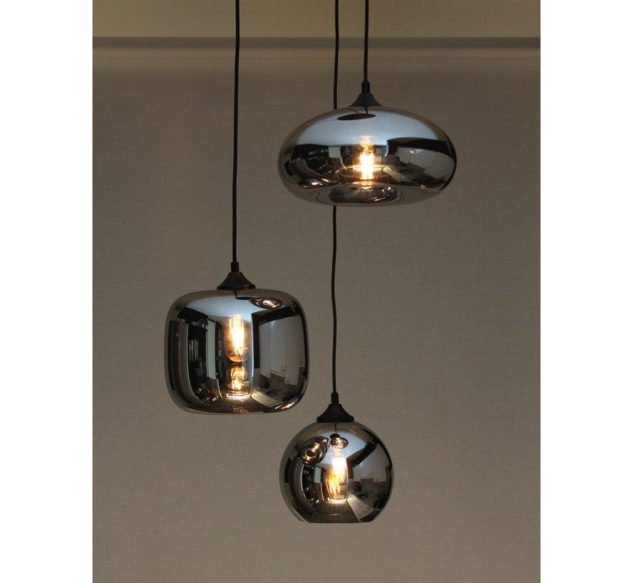 Hanglamp Glass Falkirk - Metallic Smoke