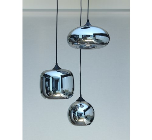 HELDR! Hanglamp Glass Falkirk - Metallic Smoke