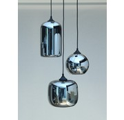 HELDR! Hanglamp Glass Inverness - Metallic Smoke