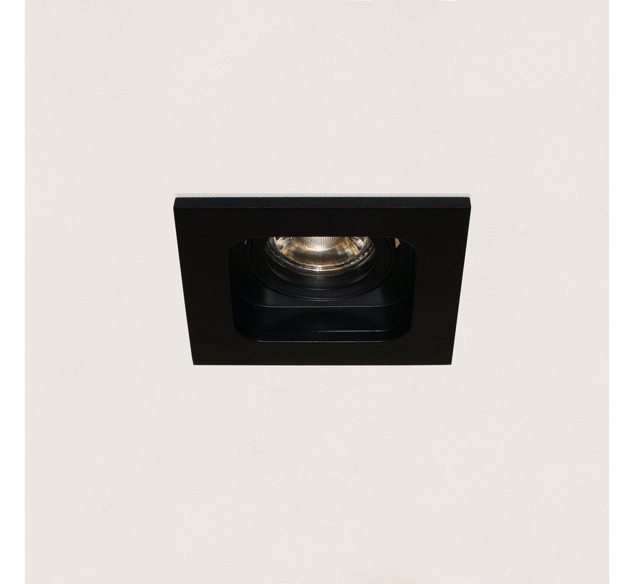 Inbouwspot Moggio 1L - Zwart