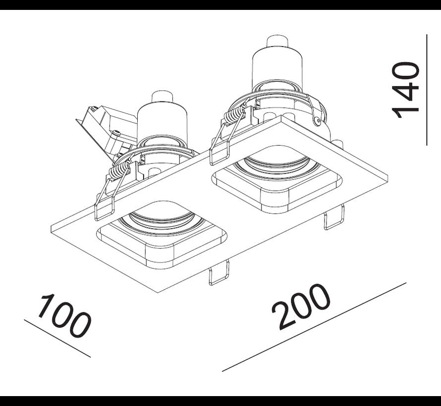 Inbouwspot Moggio 2L - Wit/Zwart