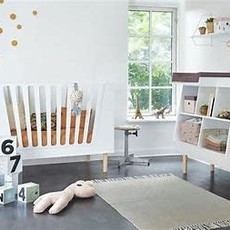 Done by deer baby cot 70 x 140 White