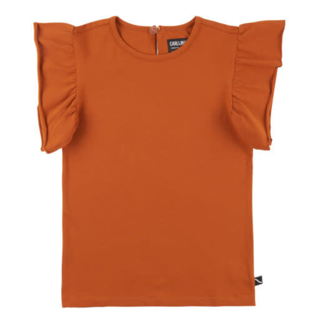 Carlijn Q Carlijn Q Ruffles Short sleeve top oranje