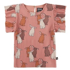 Carlijn Q Carlijn Q Rabit Ruffled short sleeve top