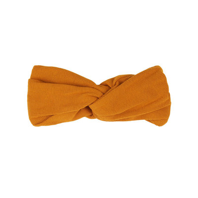 Carlijn Q haarband basic twist oranje