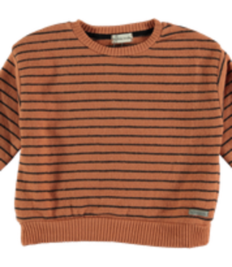 My Little Cozmo Sweater premium knit Stripes Rust DUNDEEK