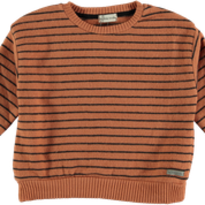 My Little Cozmo Sweater premium knit Stripes Rust DUNDEEK