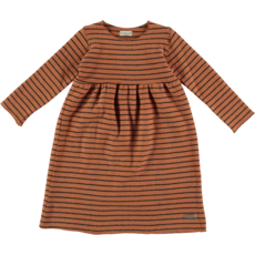My Little Cozmo Jurk premium knit Rust stripes MIRNAK