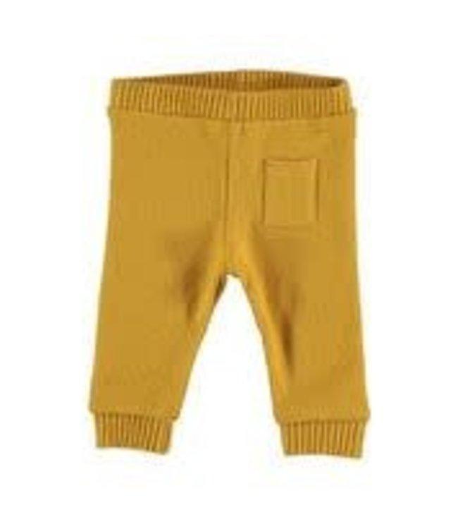 My Little Cozmo Broekje Mustard geel Premium knit OBAN