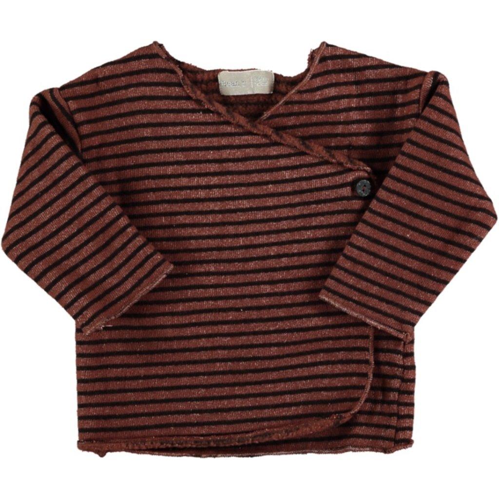 Beans Barcelona Striped warm fleece New Born T-shirt HARE