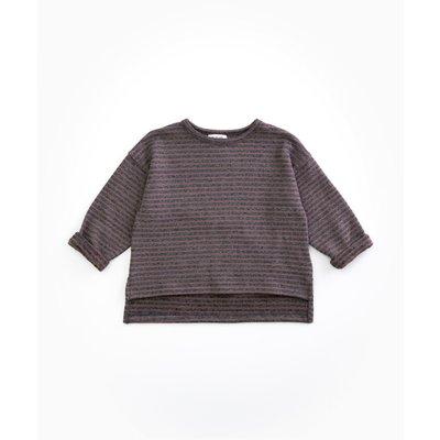 Jersey Sweater Striped Purplewood