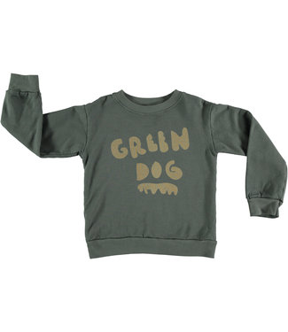 Pinata Pum Sweater Dark Green Dog