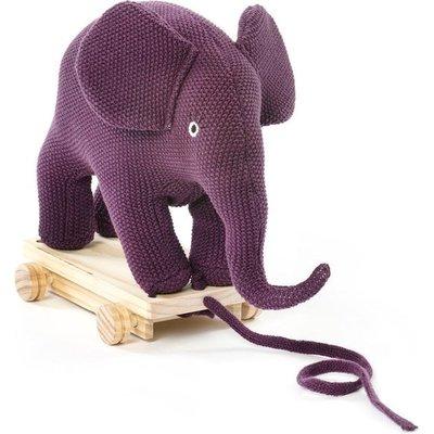 Smallstuff Pull along Elephant Aubergine