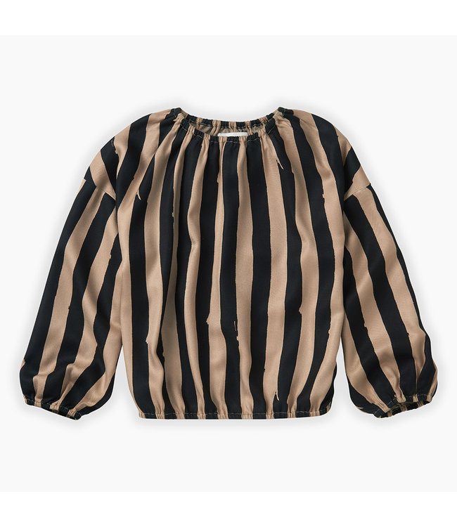 Blouse painted stripe