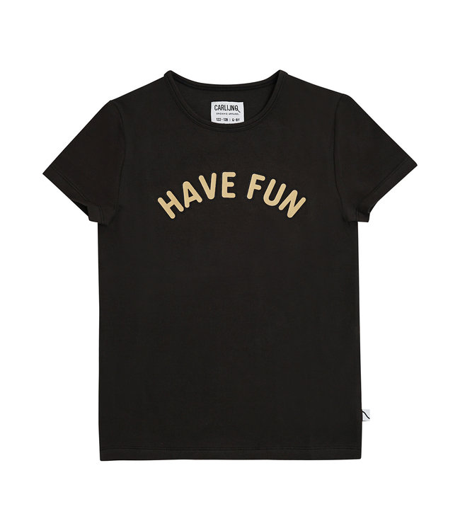 Carlijn Q Tshirt Black Have Fun