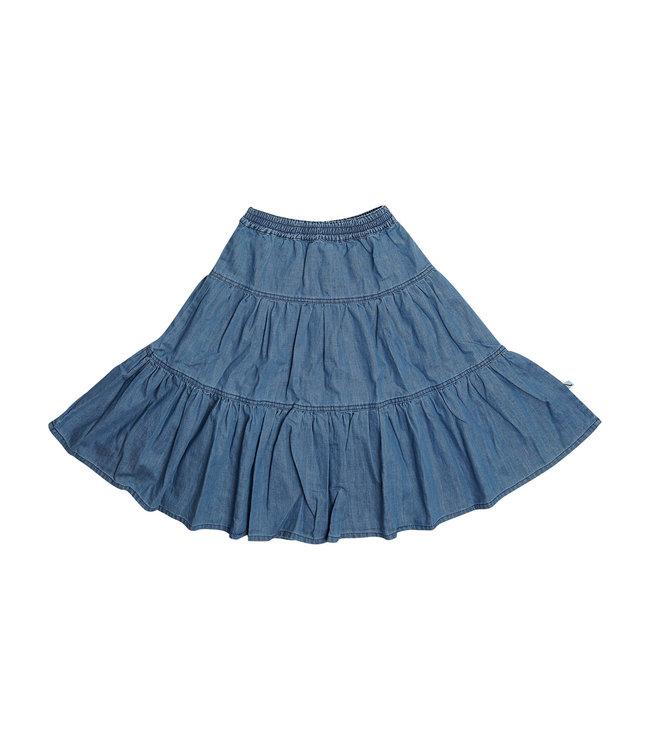 Carlijn Q Denim Flared Skirt