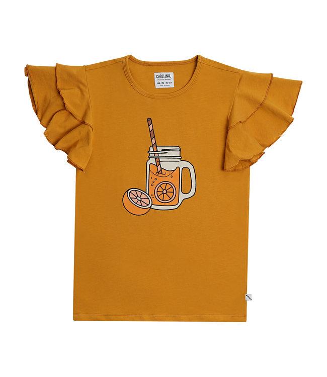 Tshirt Ruffled Lemonade print