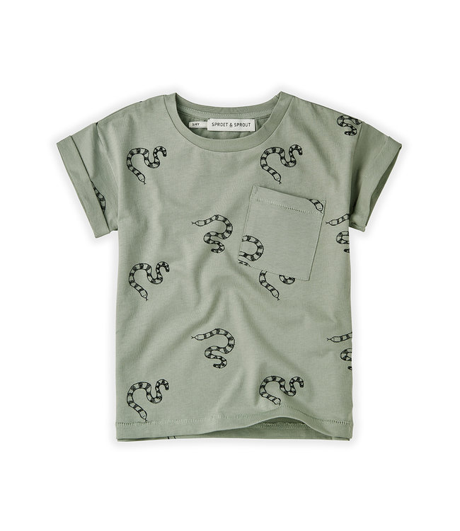 T-shirt Snake Print