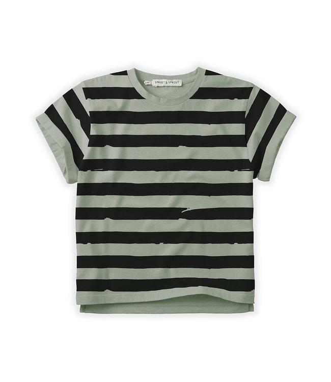 T-shirt Painted Stripe Eucalyptus