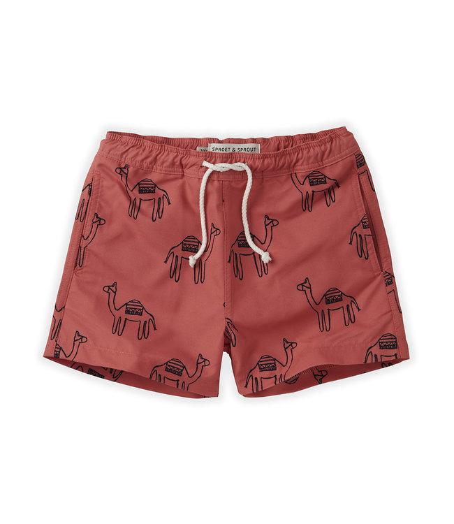 Zwembroek Camel rood