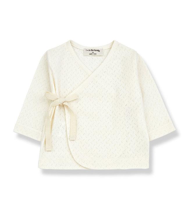 1+ in the family Newborn Tshirt Annie Ecru