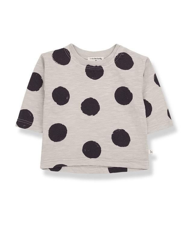 1+ in the family Long Sleeved Tshirt Ivet Stone
