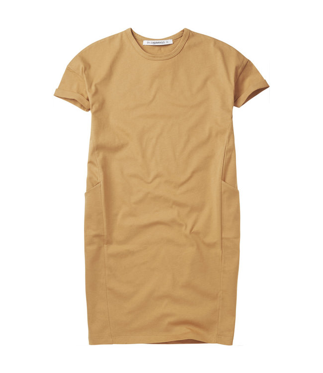 Mingo Tshirt dress light ochre