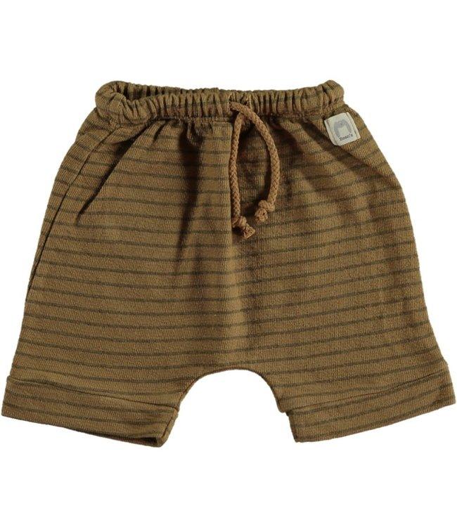 Beans Barcelona Short Striped Summer Fleece Camel