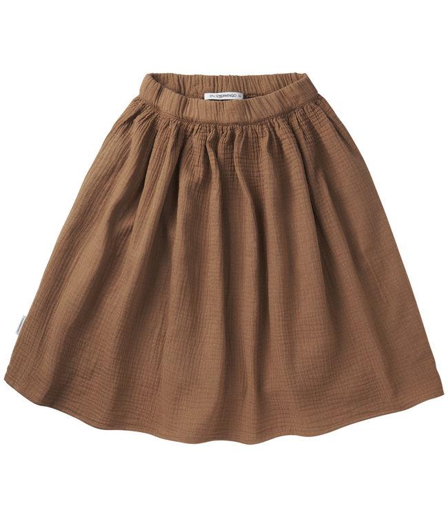 Mingo Muslin Midi Skirt Warm Earth