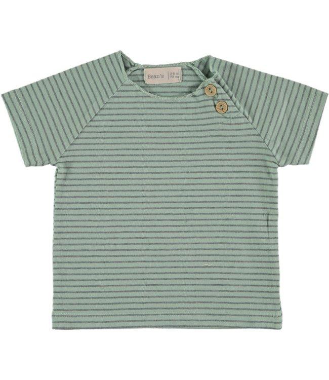 Beans Barcelona Tshirt Jersey Stripe Seagreen