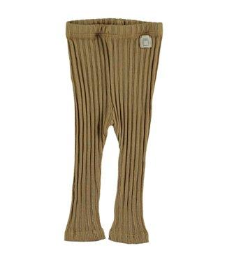 Beans Barcelona Legging Ribbed Oker