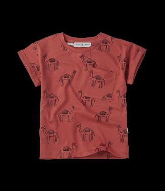 Tshirt print Camel Cherry Red maat 92